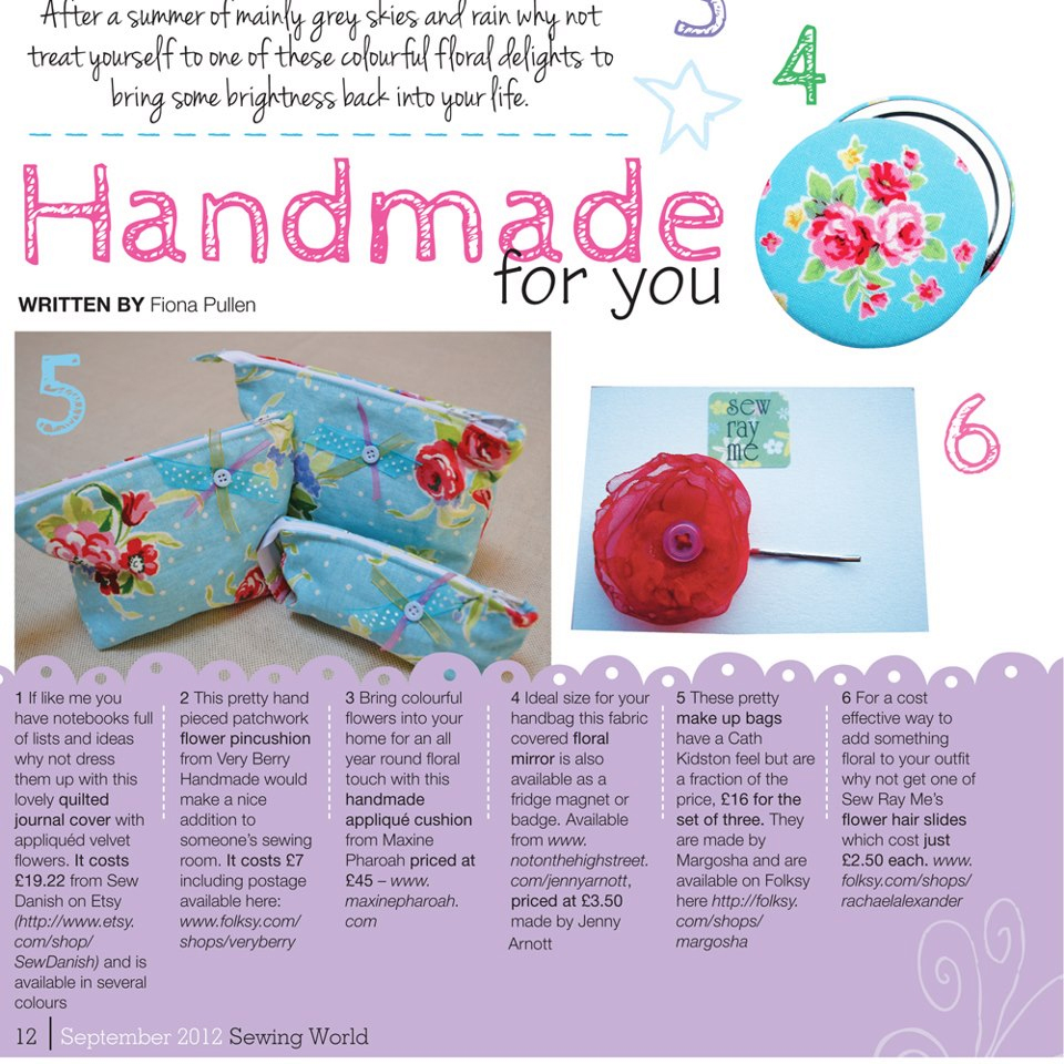 Sewing World Feature - August 2012