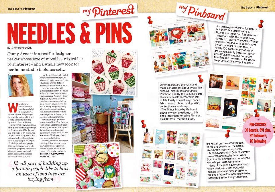 Craftseller Magazine Pinterest Feature - August 2012